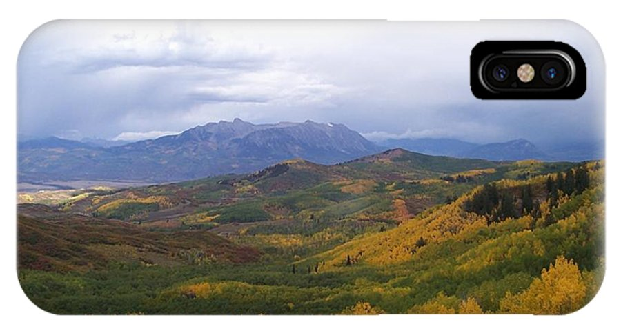 Nature IPhone X Case featuring the photograph Fall On Mcclure Pass by Tina Barnash