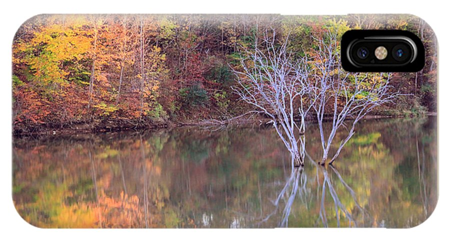 Fall IPhone X Case featuring the photograph Fall Reflections by Angela Murdock