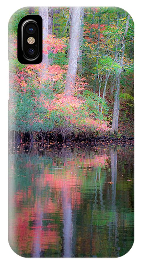 Fall IPhone X Case featuring the photograph Fall Reflections by Bob Decker