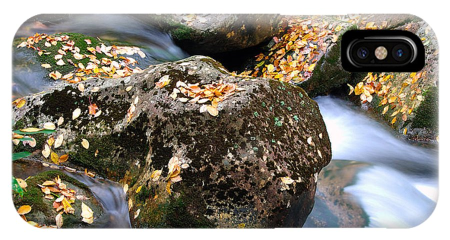 Autumn IPhone X Case featuring the photograph Fall Rushing Mountain Stream by Thomas R Fletcher