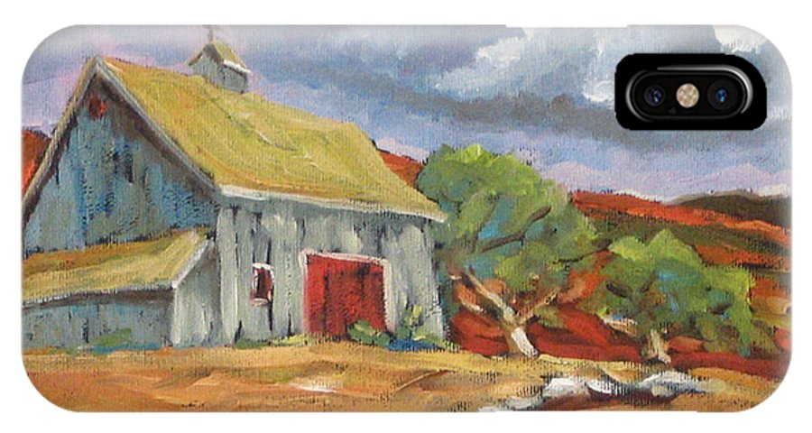 Farm IPhone X Case featuring the painting Fall Scene by Richard T Pranke