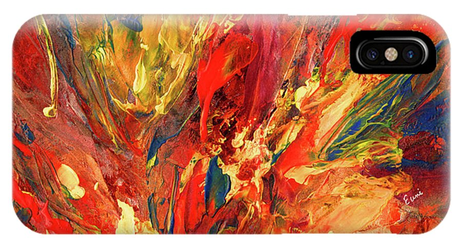 Abstract IPhone X Case featuring the painting Fall Symphony by Eunice Warfel