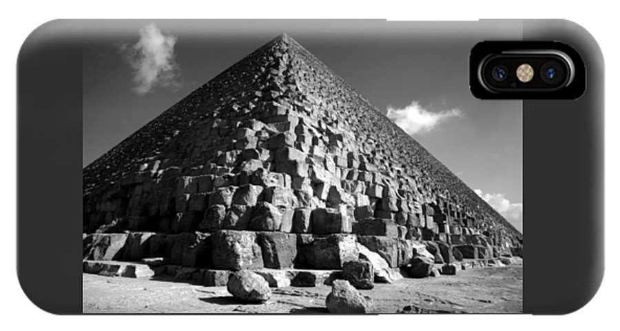 Fallen Stones IPhone Case featuring the photograph Fallen Stones At The Pyramid by Donna Corless