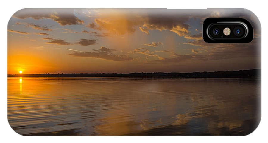 Sunset IPhone X Case featuring the photograph Falling Sky by Lowlight Images