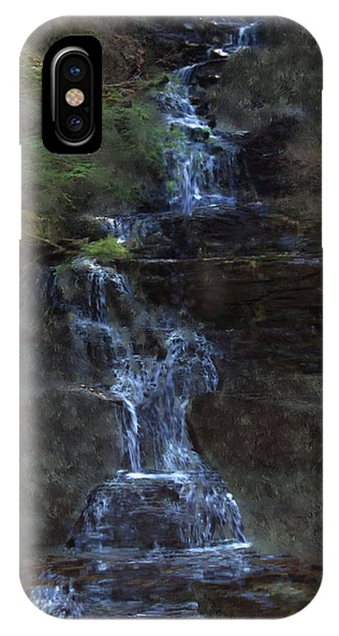 IPhone X Case featuring the photograph Falls At 6 Mile Creek Ithaca N.y. by David Lane