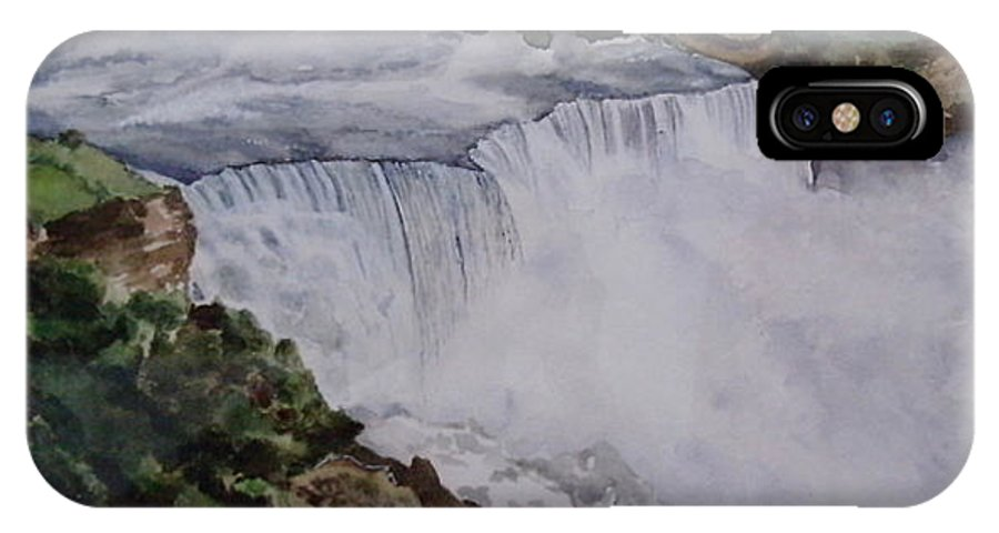 Water Falls IPhone X Case featuring the painting Falls by Tanuja Munakala