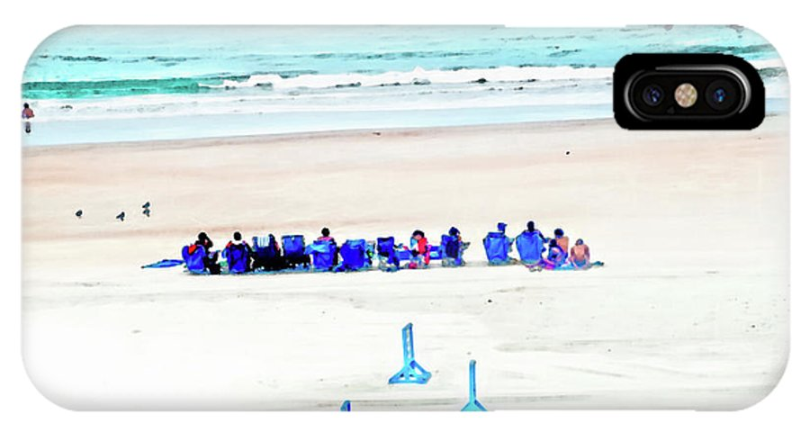 Beach IPhone X Case featuring the photograph Family Day At Beach by Gina O'Brien