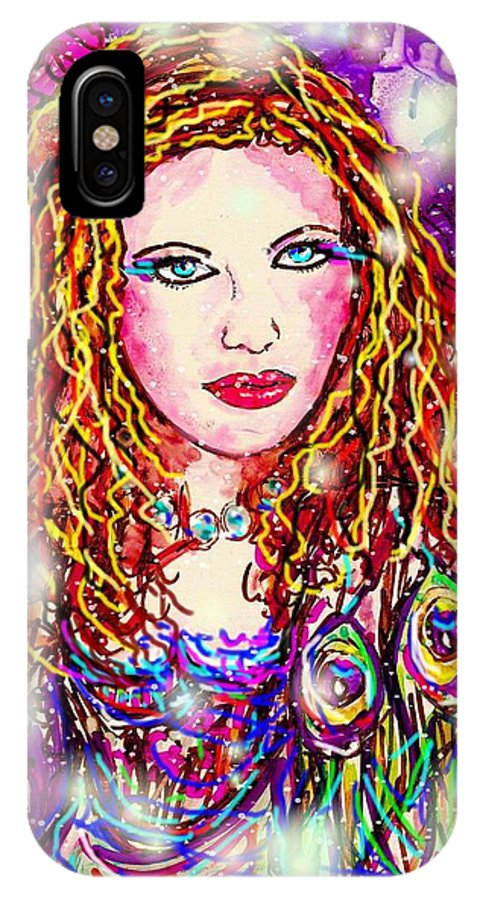 Female IPhone Case featuring the digital art Fancy Lady by Natalie Holland
