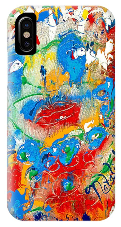 Woman IPhone X Case featuring the painting Fantasia by Natalie Holland