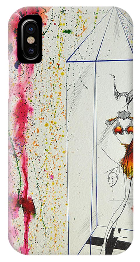 Mixed Media IPhone X Case featuring the painting Fantasy Or Reality by Luis McDonald
