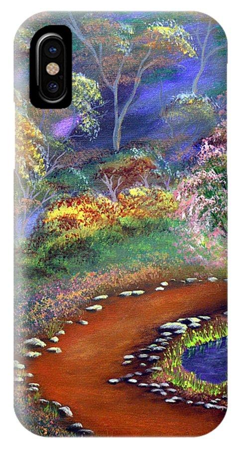 Dawn Blair IPhone Case featuring the painting Fantasy Path by Dawn Blair