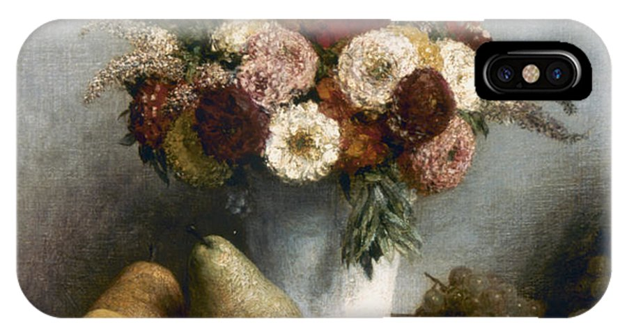 1865 IPhone X Case featuring the photograph Fantin-latour: Fruits, 1865 by Granger