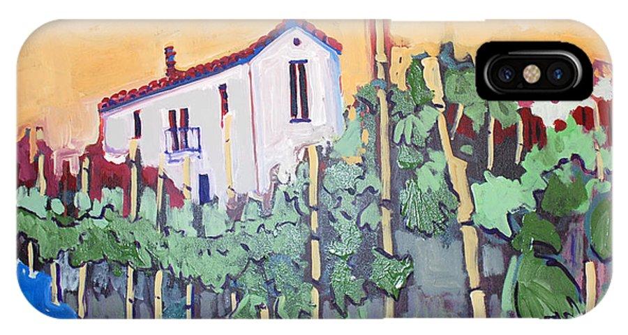 Farm House IPhone X Case featuring the painting Farm House by Kurt Hausmann