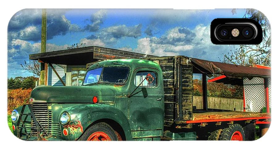 Farm Stand IPhone X Case featuring the photograph Farm Stand Truck by Terry McCarrick