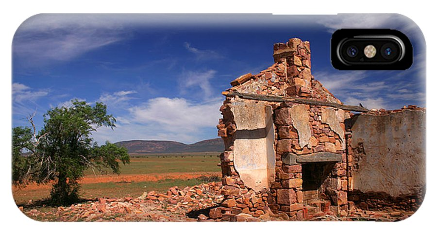 Cottage IPhone X Case featuring the photograph Farmhouse Cottage Ruin Flinders Ranges South Australia by Ralph A Ledergerber-Photography