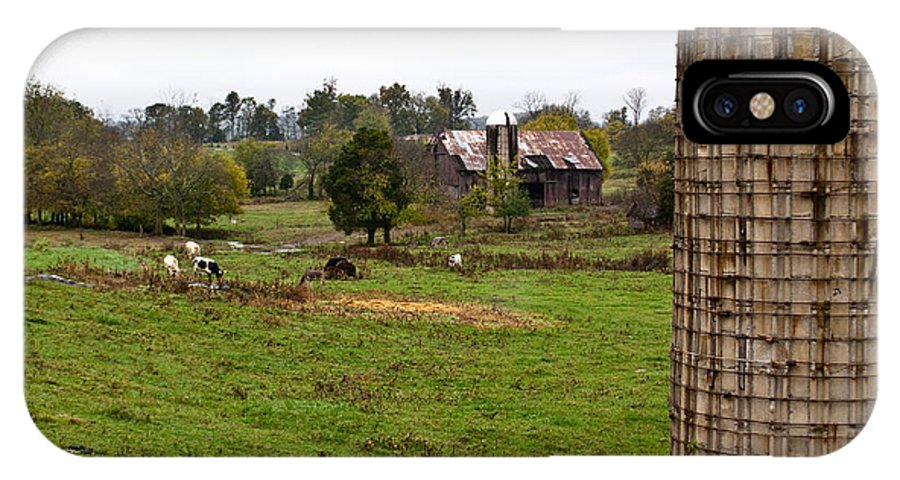Farm IPhone X Case featuring the photograph Farmland by Douglas Barnett