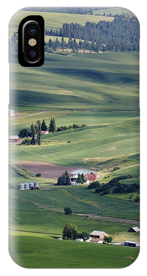 Fertile IPhone X Case featuring the photograph Farmland In Eastern Washington State by Carl Purcell