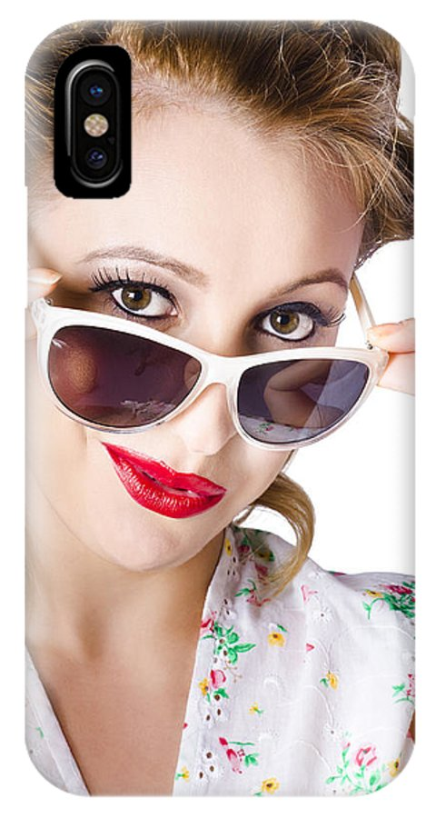 Beautiful IPhone X / XS Case featuring the photograph Fashionable Woman In Sun Shades by Jorgo Photography - Wall Art Gallery