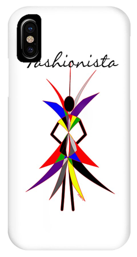 Fashionista IPhone X Case featuring the digital art Fashionista by Methune Hively