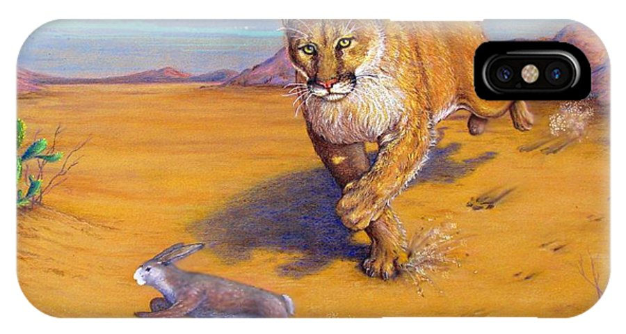 Wildlife IPhone X Case featuring the painting Fast Food by Tanja Ware