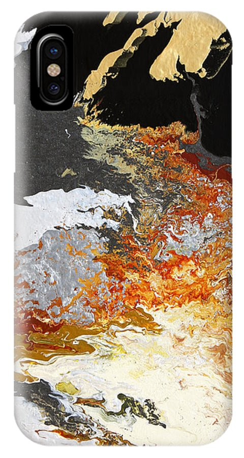 Fusionart IPhone X Case featuring the painting Fathom by Ralph White
