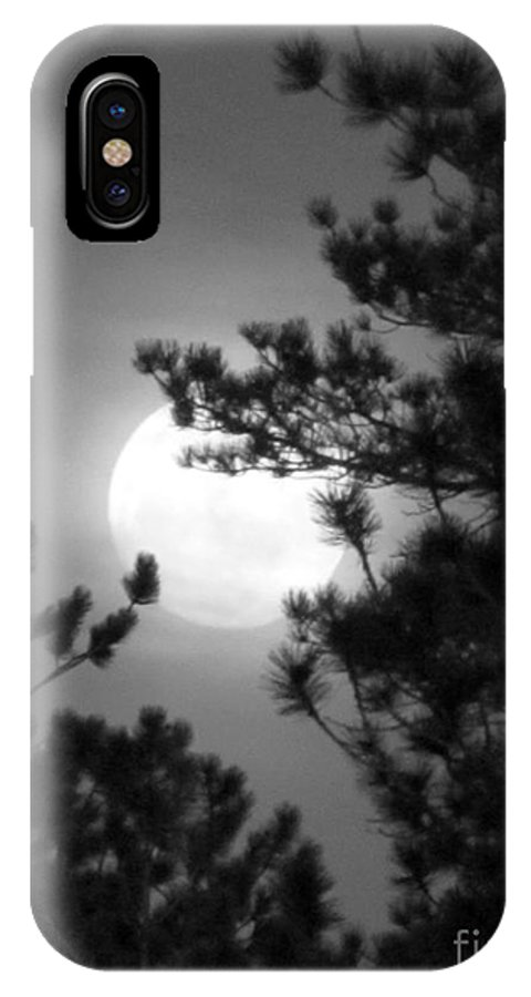 Landscape IPhone X Case featuring the photograph Favorite Full Moon by Barbara Henry