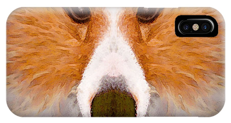Dog IPhone X Case featuring the painting Faye Sprayed by Peter J Sucy