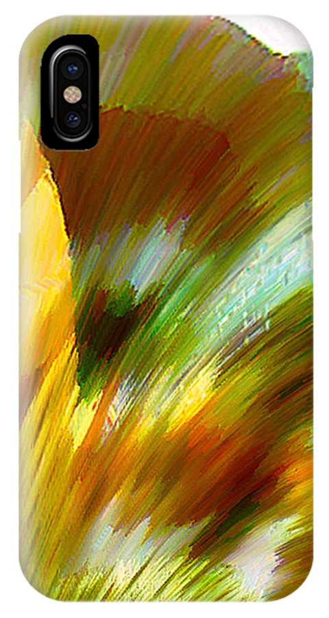 Landscape Digital Art Watercolor Water Color Mixed Media IPhone X / XS Case featuring the digital art Feather by Anil Nene