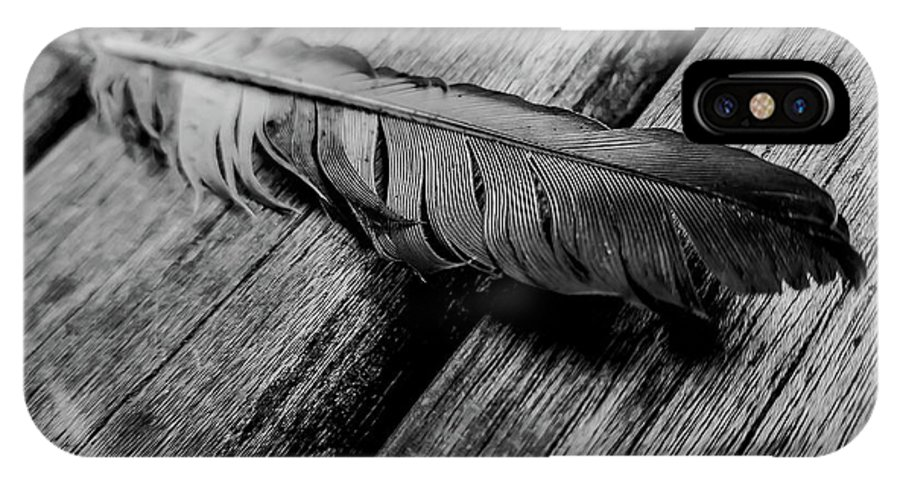 Feather IPhone X Case featuring the photograph Feathering by James Aiken