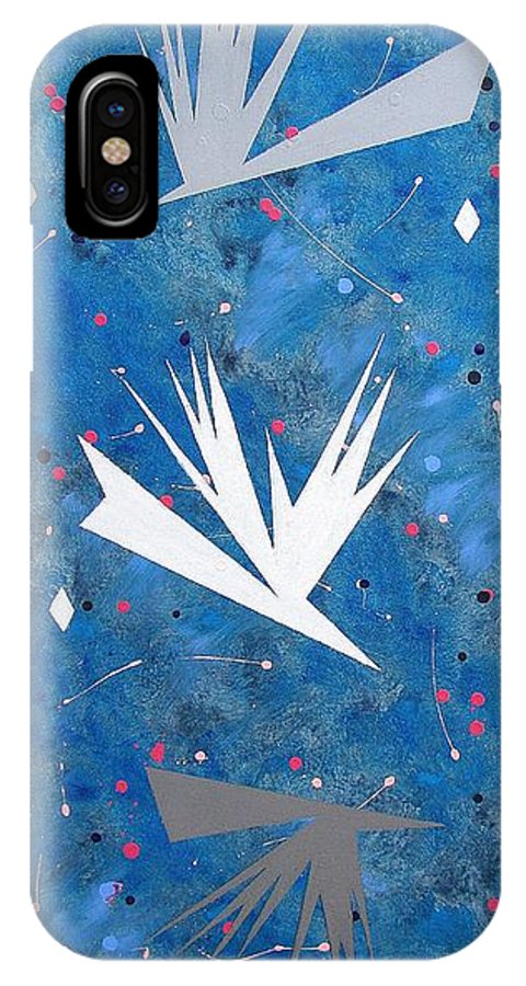 Birds And Diamond Stars IPhone Case featuring the painting Feeding Frenzy by J R Seymour