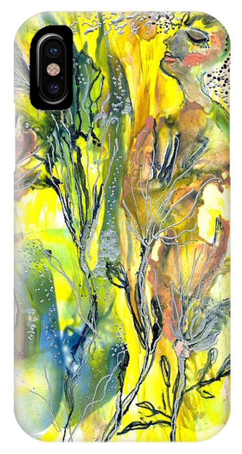 Healing IPhone X Case featuring the painting Feeling Of The Heart by Heather Hennick
