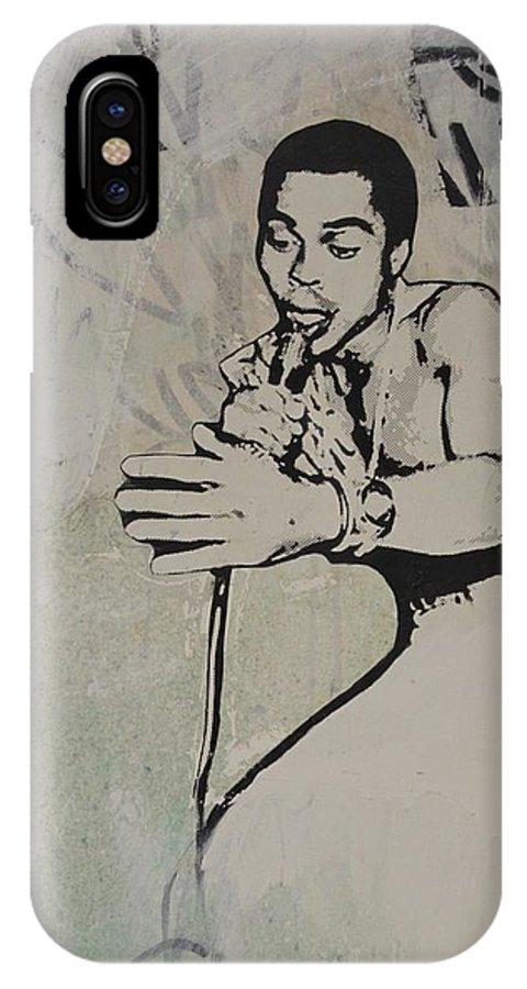 Fred Hampton IPhone X Case featuring the mixed media Fela Kuti by Dustin Spagnola