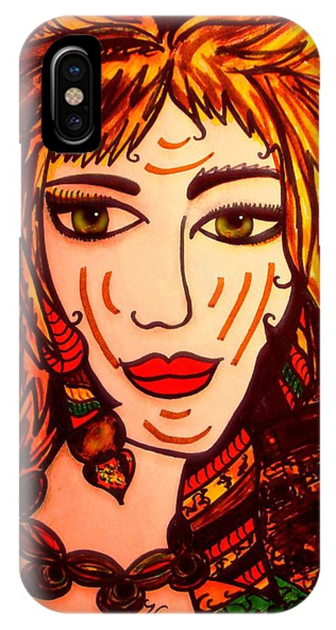 Woman IPhone X Case featuring the painting Female Animal by Natalie Holland