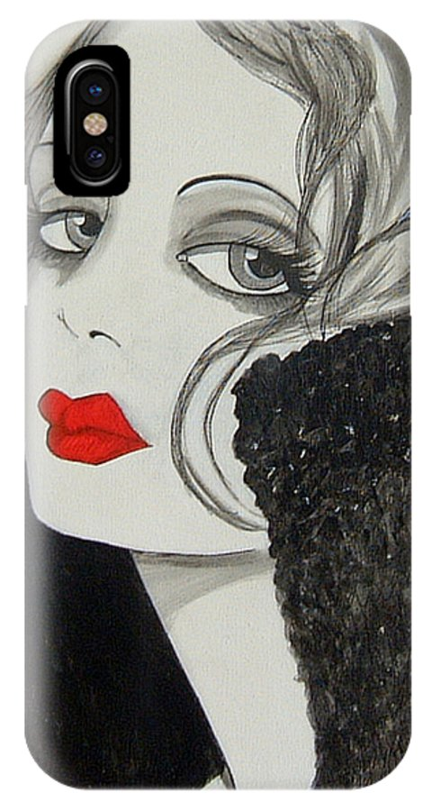 Cinema IPhone Case featuring the painting Femme Fatale by Rosie Harper