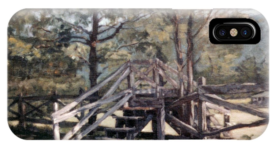 Appalachian Series IPhone X Case featuring the painting Fence Stile by Suzanne Shelden