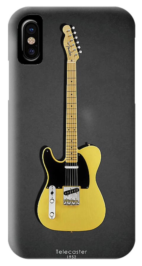 Fender Telecaster IPhone X Case featuring the photograph Fender Telecaster 52 by Mark Rogan