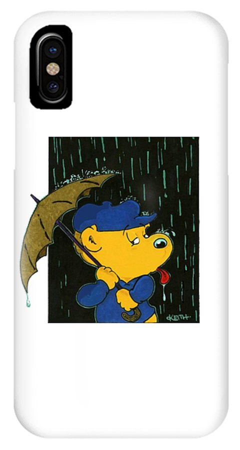 Ferald IPhone X Case featuring the painting Ferald's Taste Of Rain by Keith Williams