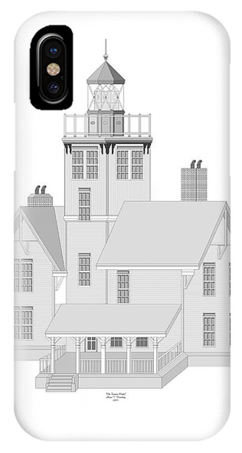Lighthouse IPhone Case featuring the painting Fermin Model Architectural Drawing by Anne Norskog