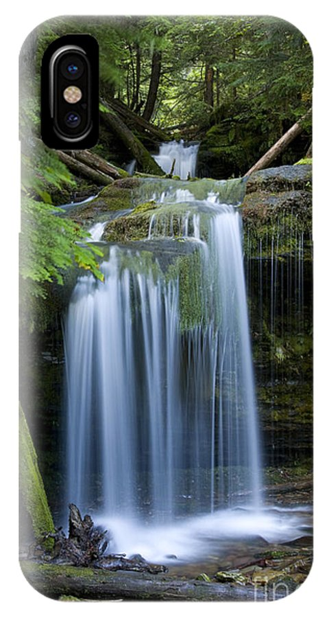 Waterfalls IPhone Case featuring the photograph Fern Falls by Idaho Scenic Images Linda Lantzy