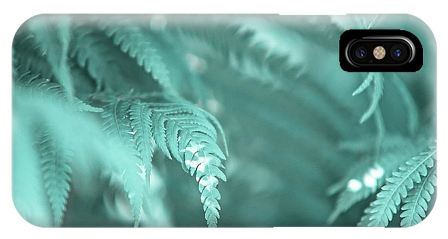 Jenny Rainbow Fine Art Photography IPhone X Case featuring the photograph Fern Leaves Abstract 4. Nature In Alien Skin by Jenny Rainbow
