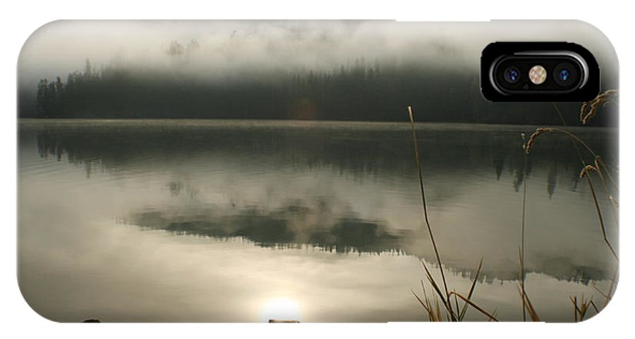 Mist IPhone X Case featuring the photograph Fernan Fog by Idaho Scenic Images Linda Lantzy