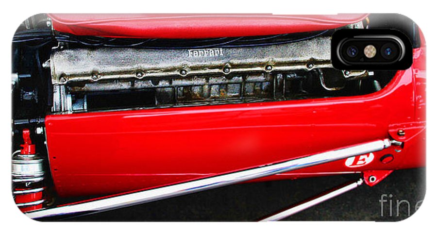 Ferrari IPhone X Case featuring the photograph Ferrari 312 F-1 Engine by Curt Johnson