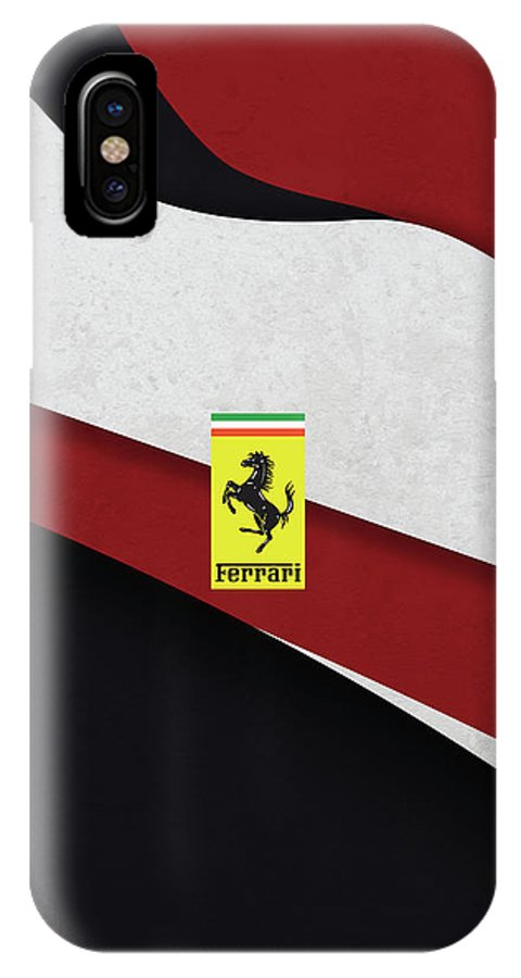 Italy IPhone X Case featuring the digital art Ferrari Blend by Srdjan Petrovic