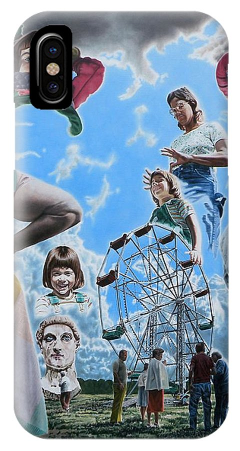 Woman IPhone Case featuring the painting Ferris Wheel by Dave Martsolf