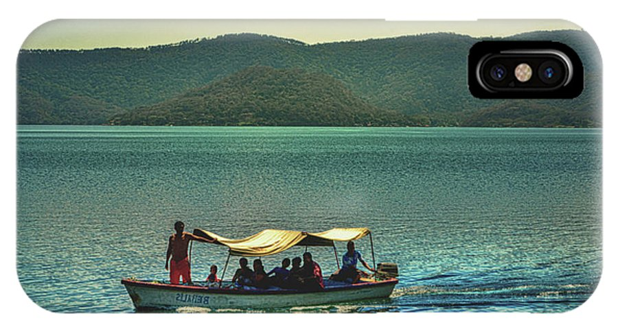 Ferry IPhone X Case featuring the photograph Ferry - Lago De Coatepeque - El Salvador by Totto Ponce