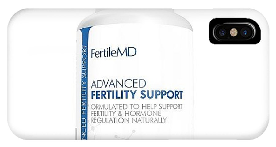 Fertilemd IPhone X Case featuring the ceramic art Fertilemd - Fertility Pill For Women by Jeffrey Cameron