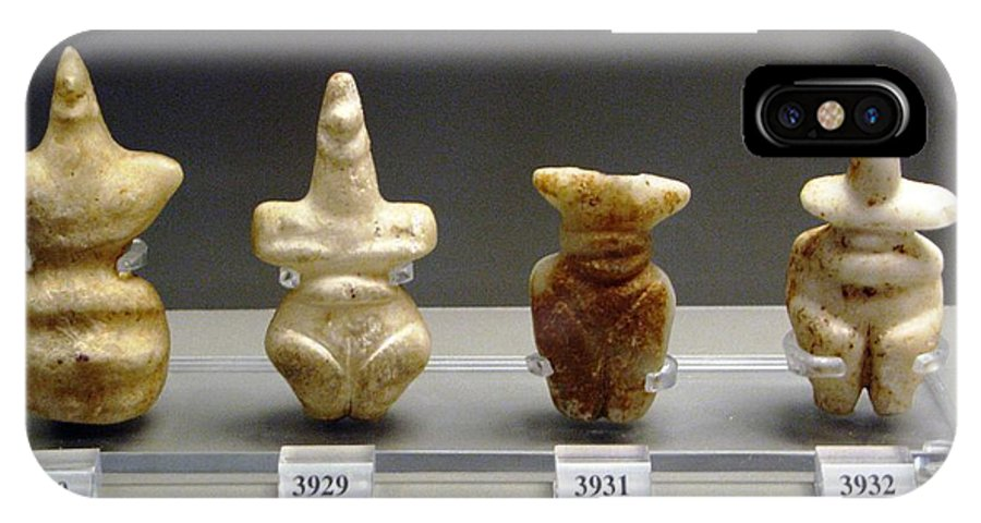 Neolithic Figurine IPhone X / XS Case featuring the photograph Fertility Goddesses by Andonis Katanos