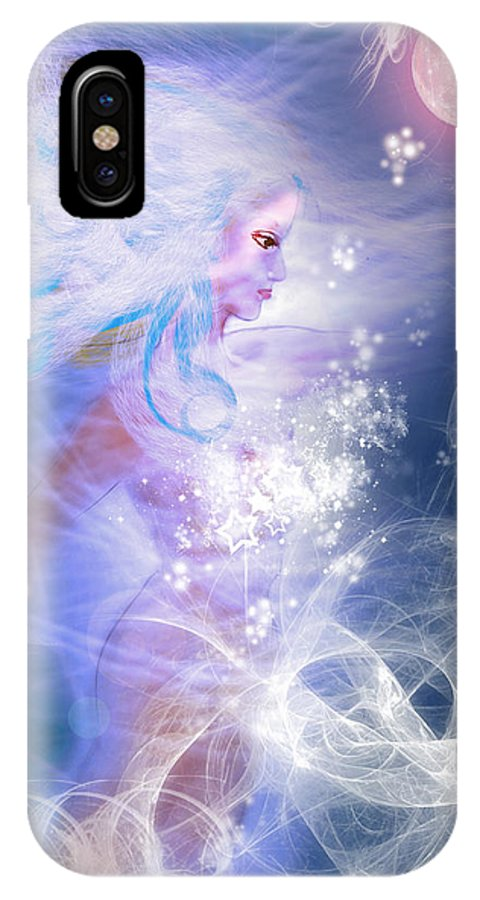 Make-believe IPhone X Case featuring the digital art Fey by Patricia Motley