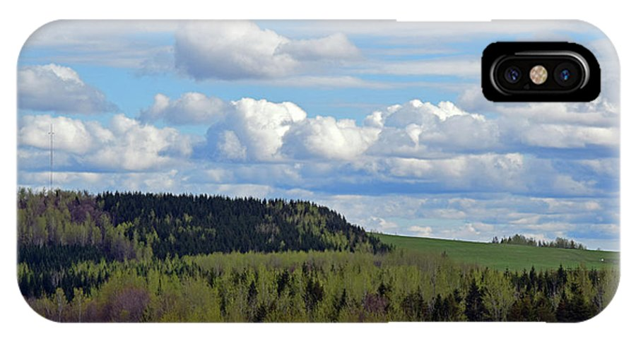 Landscape IPhone X / XS Case featuring the photograph Field To Forest To Hill To Sky by William Tasker