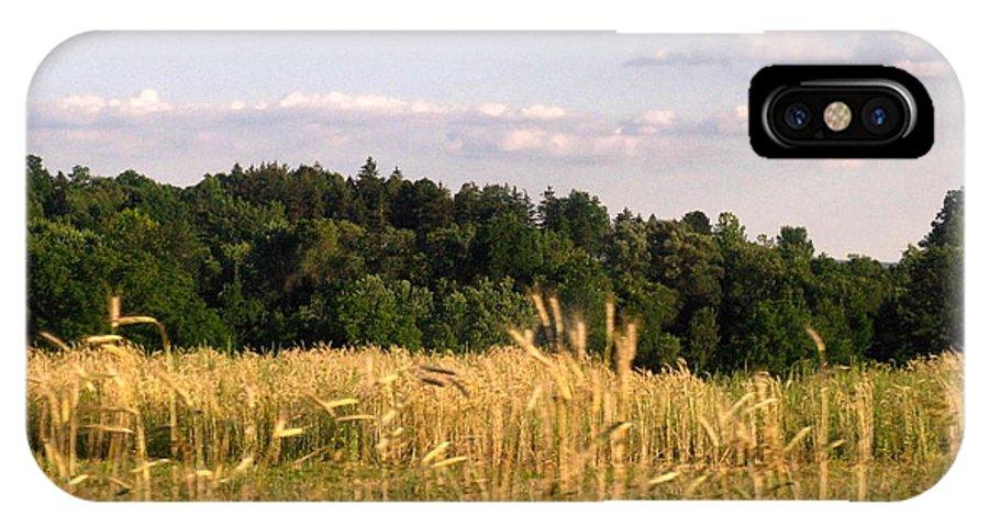Field IPhone X Case featuring the photograph Fields Of Grain by Rhonda Barrett